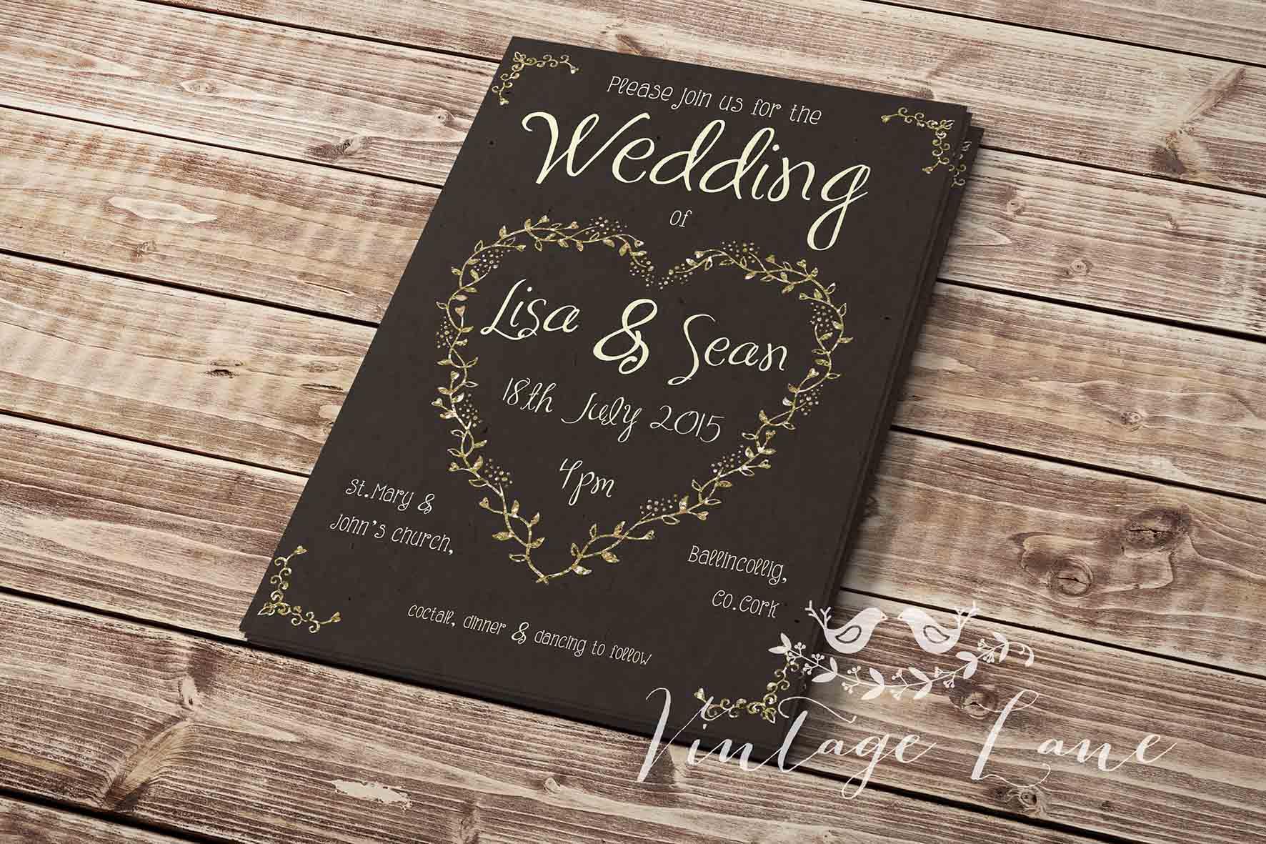 wedding invitations ireland budget Archives - Vintage Lane