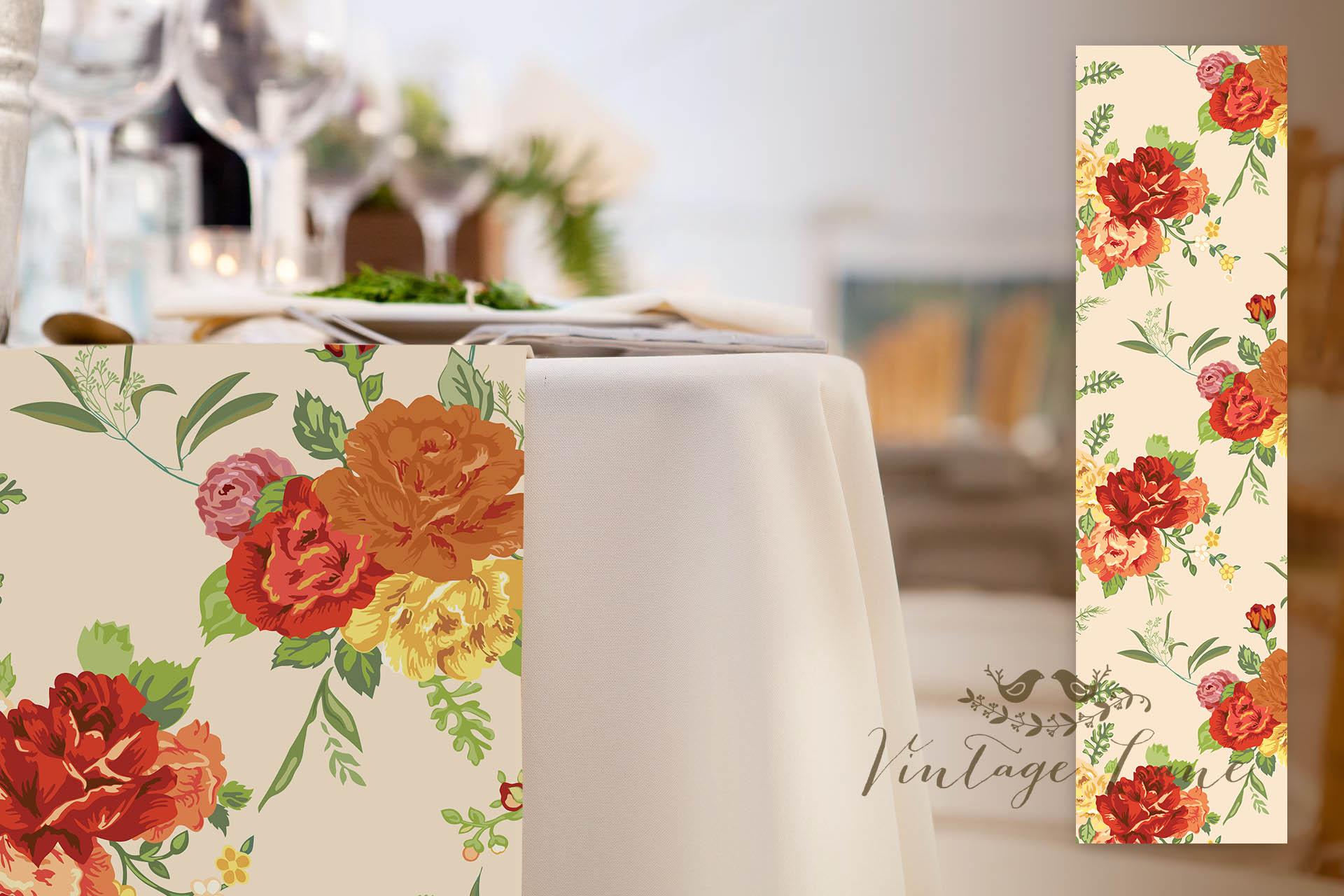 Wedding table runners vintage lane autumn floral wedding table runners personalised wedding table runners cork ireland junglespirit Choice Image