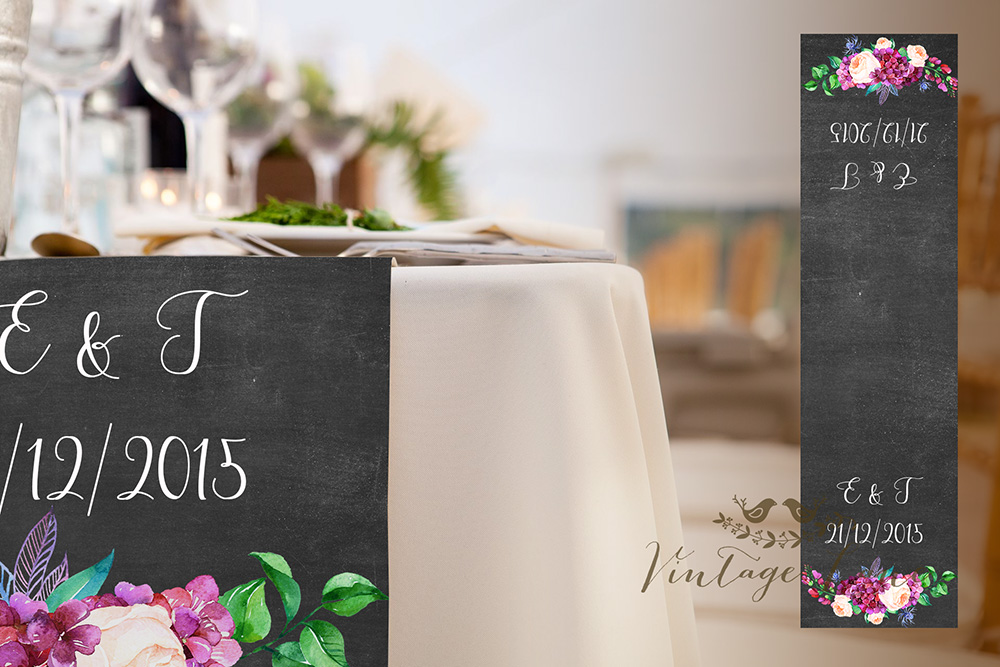 Chalkboard Wedding Table Runners Personalised Ireland