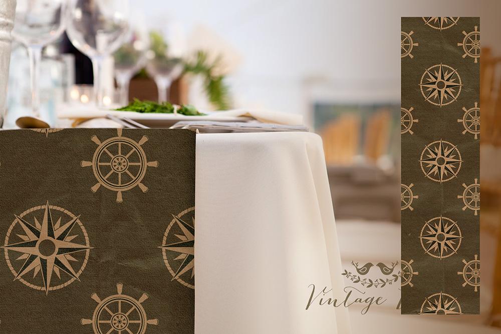 Wedding table runners vintage lane nautical theme wedding table runner cork ireland junglespirit Choice Image