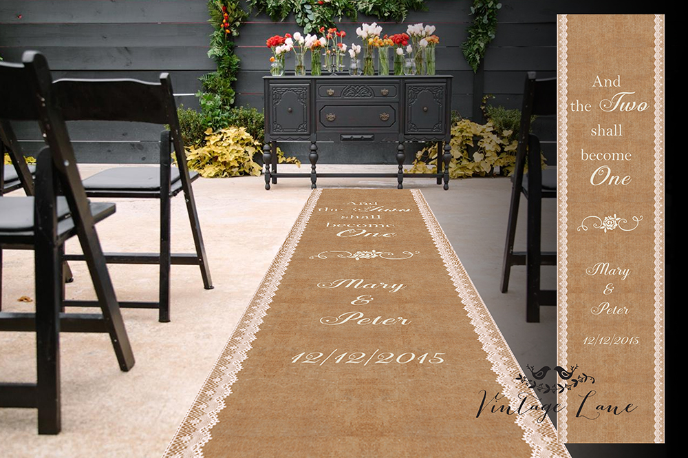 Cheap Aisle Runners Wedding Personalized