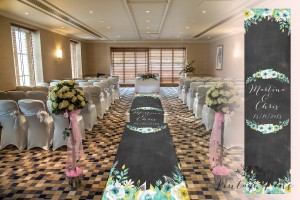 chalkboard aisle runner custom made wedding aisle runner vintage ...