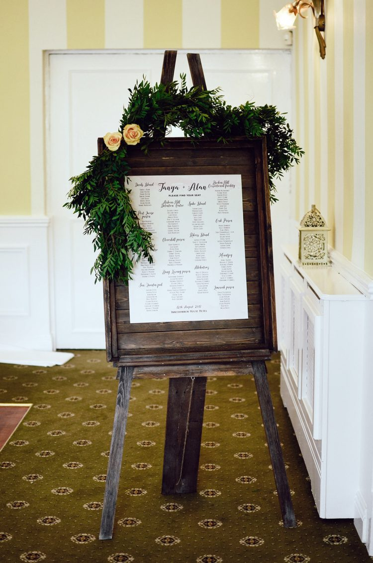 vintage wood board table plan for hire in cork ireland