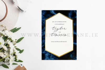 marble effect wedding invitations cork