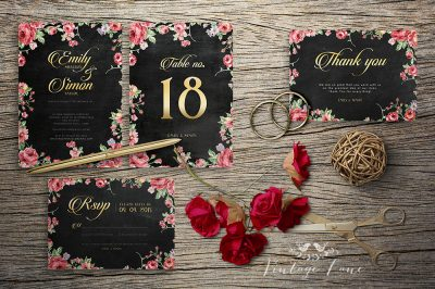 chalkboard-roses-personalised-wedding-invitations-cork-ireland-vintagelane
