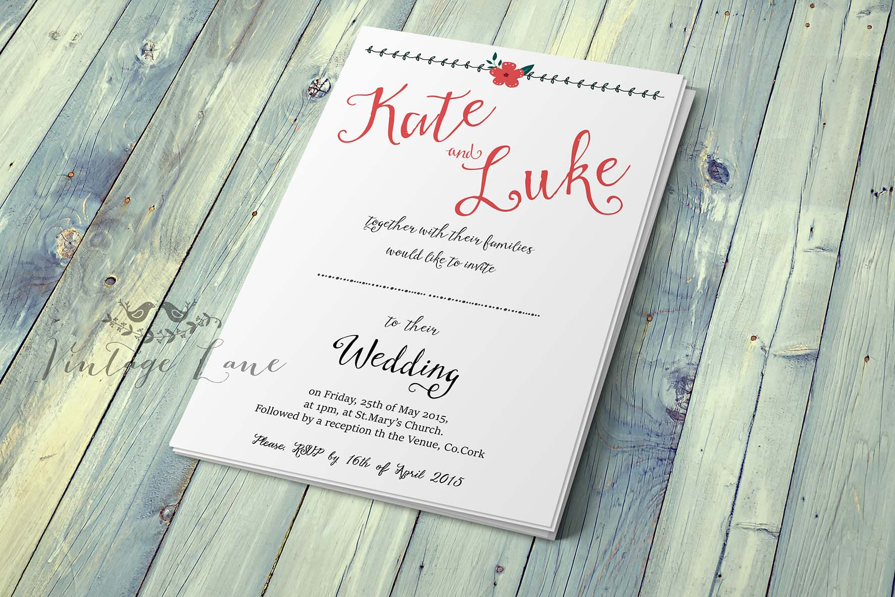 day-invite-preview-front-rustic-floral-personalised-wedding ...