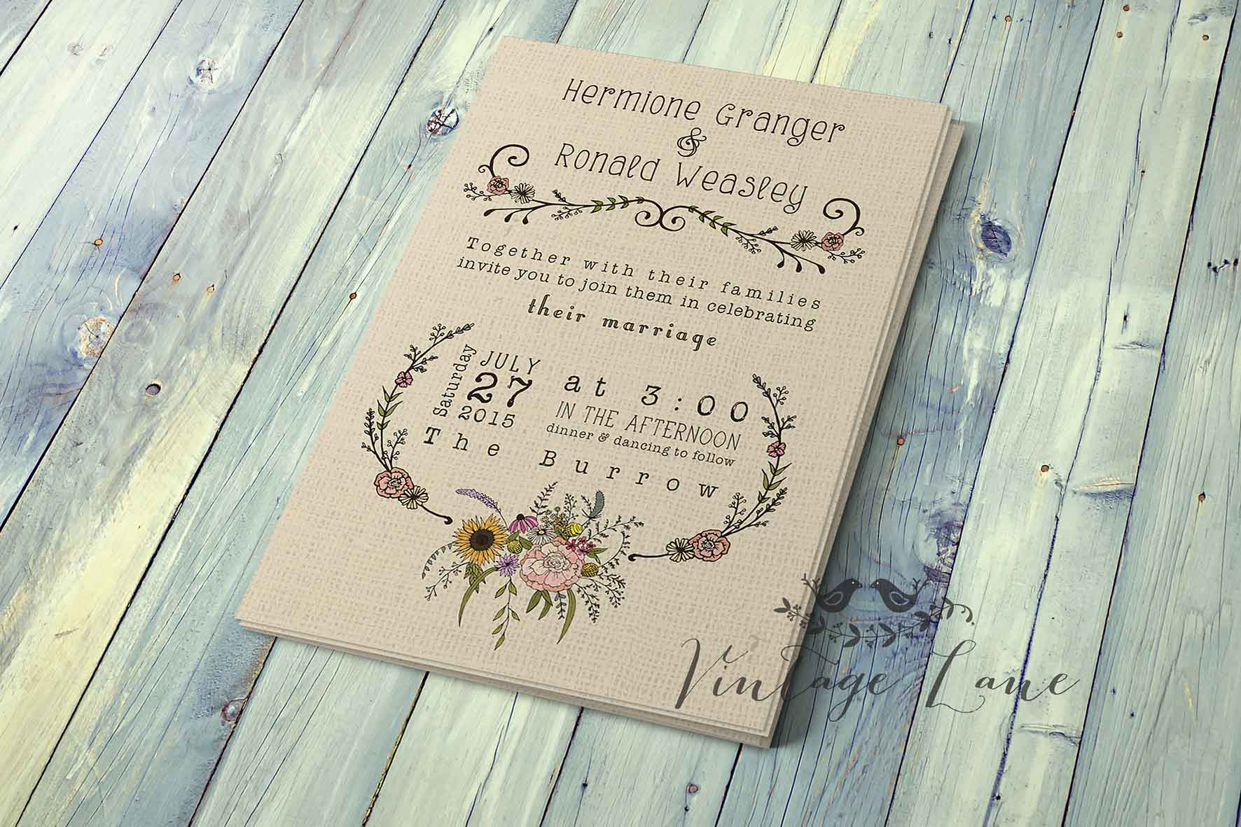 country style wedding invitations - Romeo.landinez.co