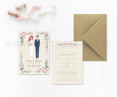wedding characters wedding cartoon style wedding invitations cork ireland