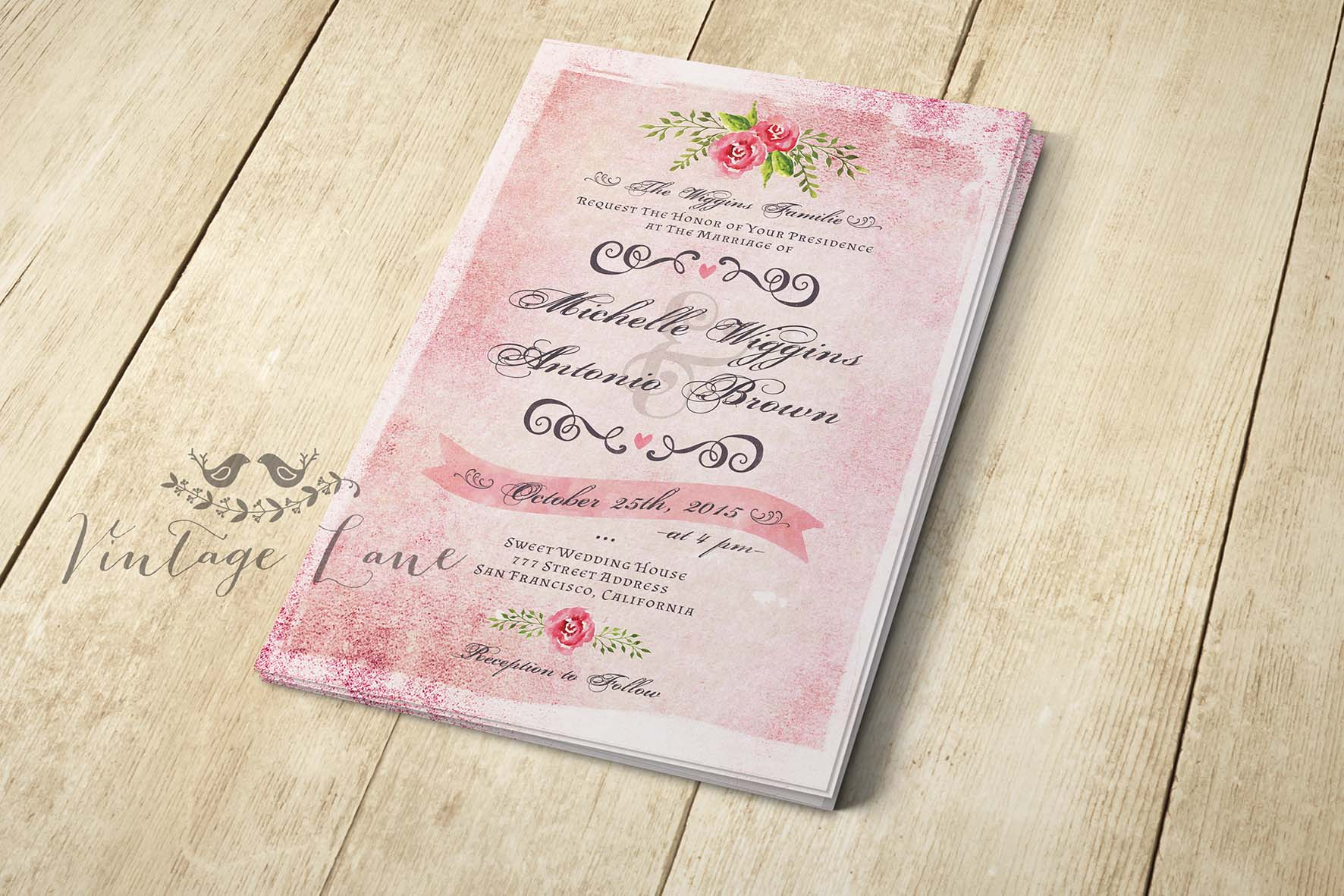 pink-vintage-syle-wedding-invitations-shabby-chic-invitations-cork ...