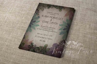 succulent-style-rustic-wedding-style-invitation-cork-ireland