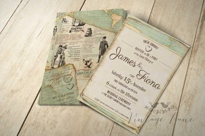 wedding invitations - Vintage Style Wedding Invitations