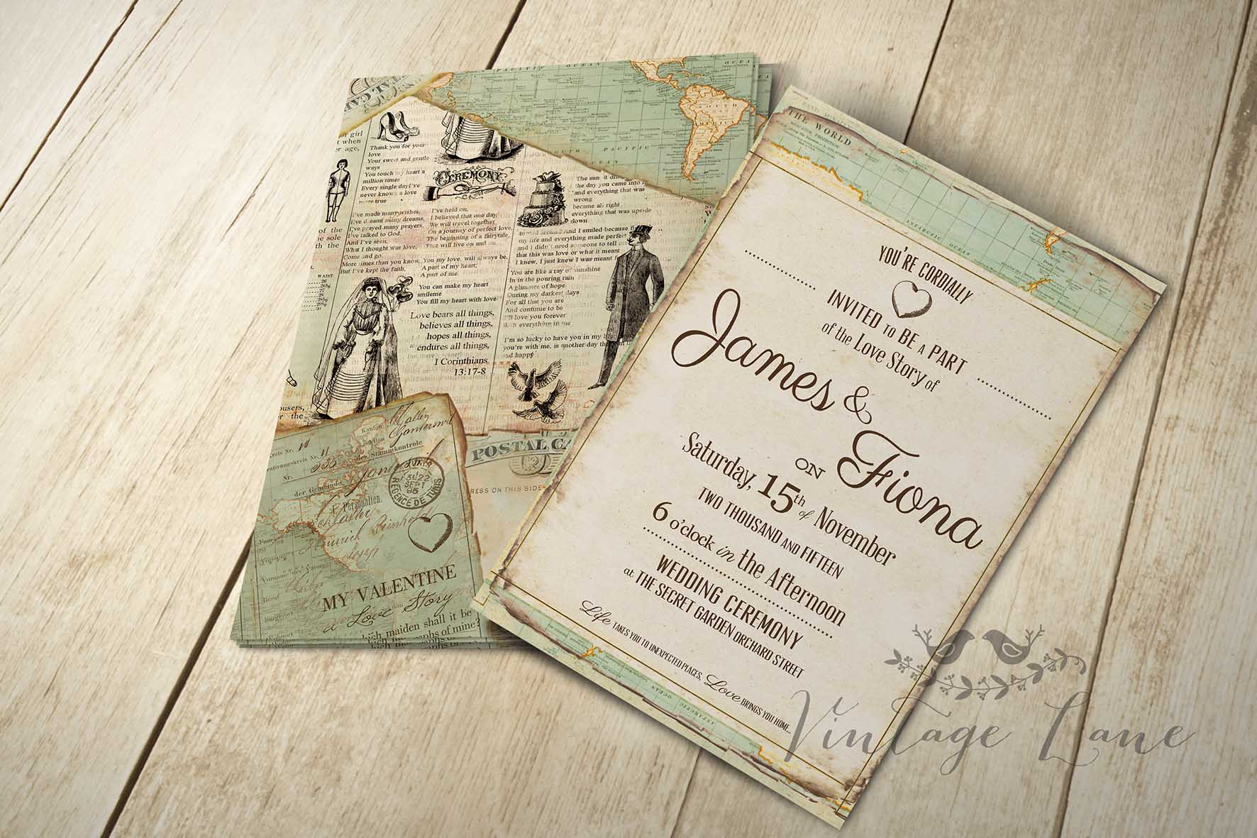 antique inspired wedding invitations - 28 images - read more vintage ...