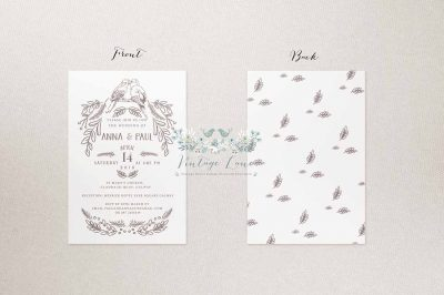birds style wedding invitations birds cards birds stationery cork ireland