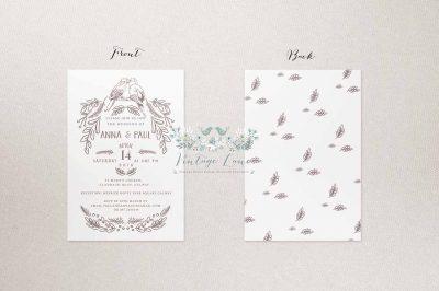 birds style wedding invitations birds cards birds stationery cork ireland