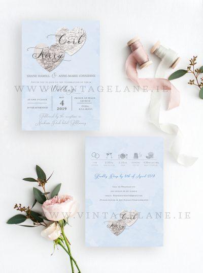cork county wedding invitations ireland theme
