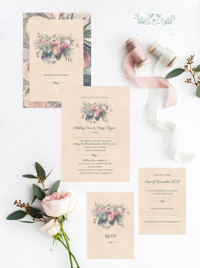 floral Invitations vintage style wedding invitations vintage flowers wedding invitations cork ireland vintage lane