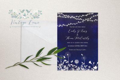 garden party night theme summer night wedding theme wedding invitations cork Ireland Vintage Lane