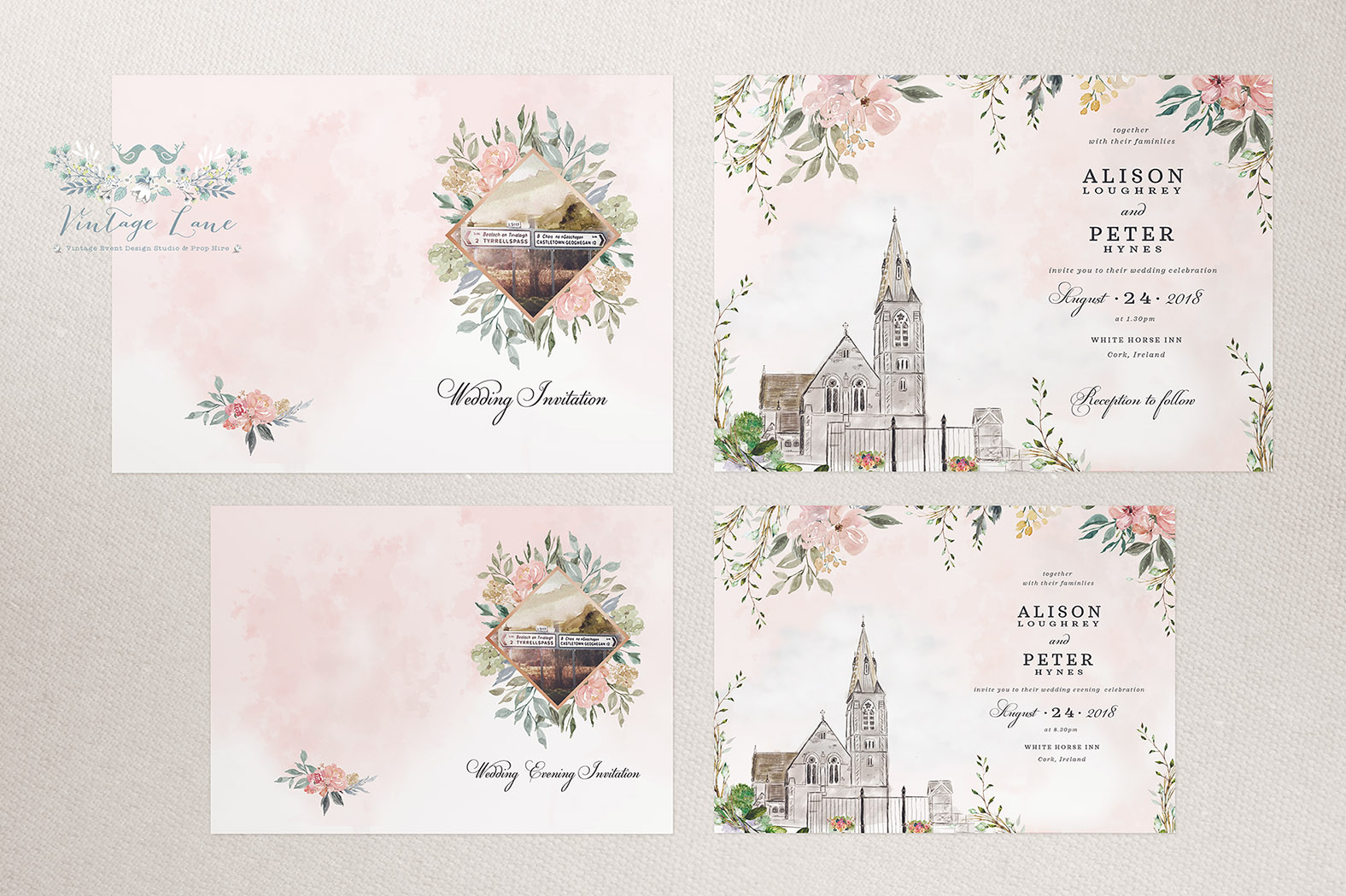 irish road wedding invitations irish landscape wedding invitations