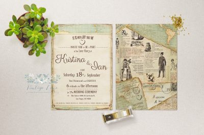 journey wedding theme travel theme wedding invitations adventure wedding stationery vintage travel wedding invitations cork ireland vintage lane