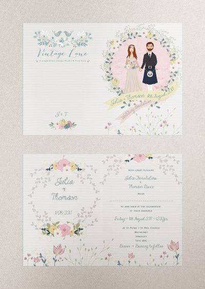 portrait wedding characters wedding portrait wedding illustration festival wedding invitations cork ireland