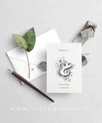 minimalist wedding invitations minimal wedding design monogram wedding invitations initial wedding invitations cork ireland