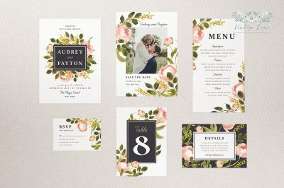 peony wedding invitation blush and black wedding invitations soft pink wedding invitations cork ireland vintage lane stationery