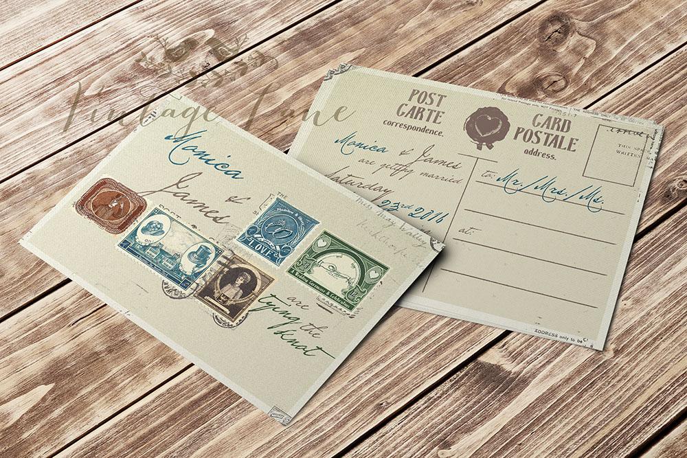 post-card-style-wedding-invitation-vintage-lane-ireland-wedding ...