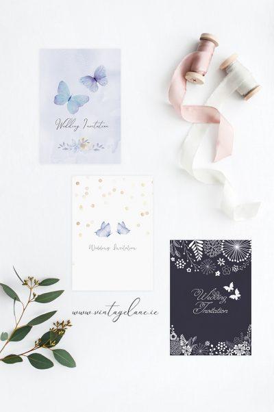 butterfly wedding invitations butterflies wedding butterfly style powderblue wedding light sky wedding invitations cork ireland