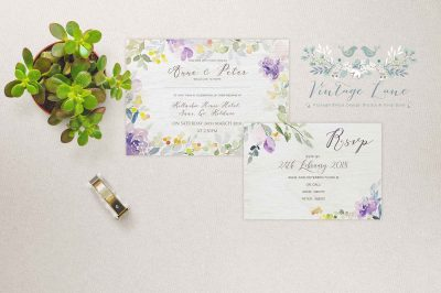 floral romantic wedding invitation simple floral card wedding invitations ireland summer stationery cork printing
