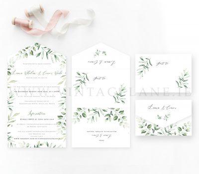 greenery wedding lush greenery botanical wedding stationery wedding design ireland cork