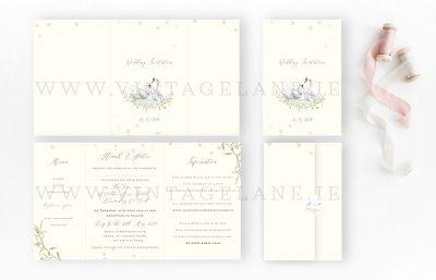 swan design wedding invitations lake design wedding invitations countryside wedding invitations cork ireland