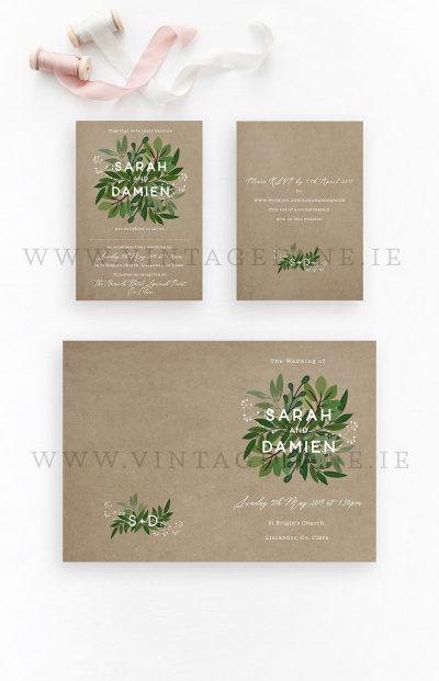 botanical dark green wedding theme contemporary wedding design cork ireland