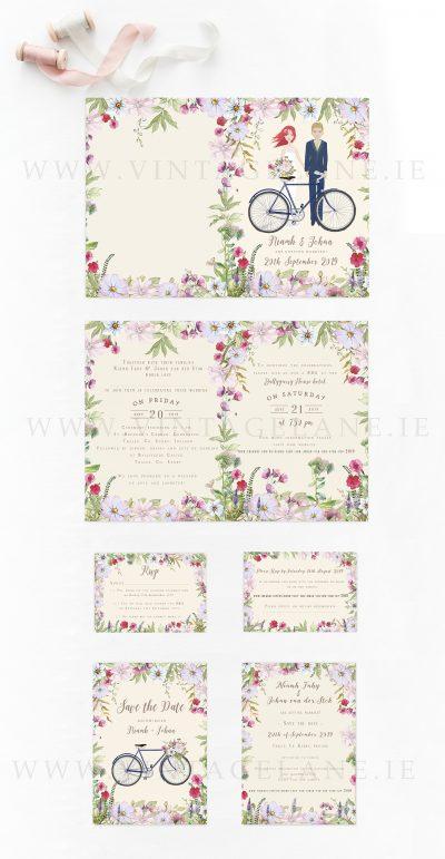 summer garden wedding invitations