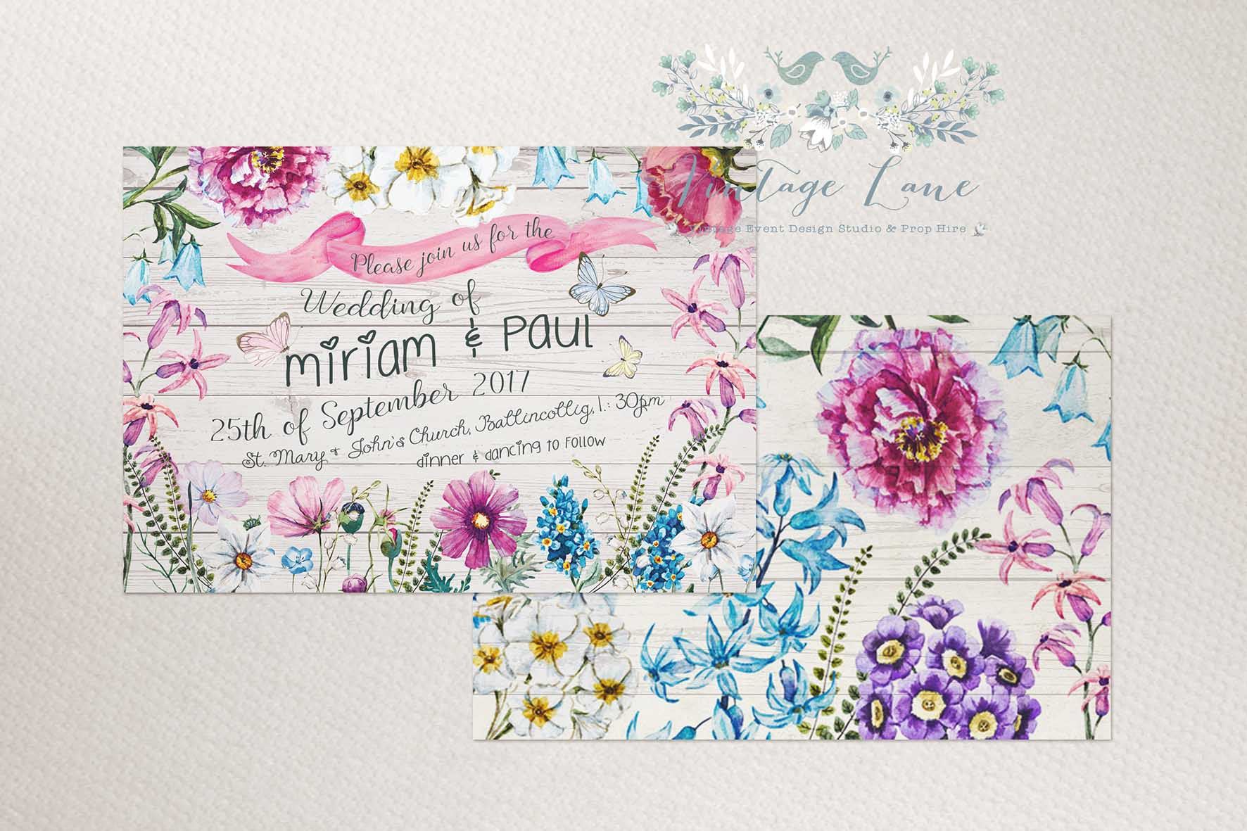 Wedding Invitations – Garden Party Wedding Invitations