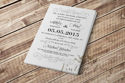 vintage-plain-white-wedding-invitation-cork-ireland