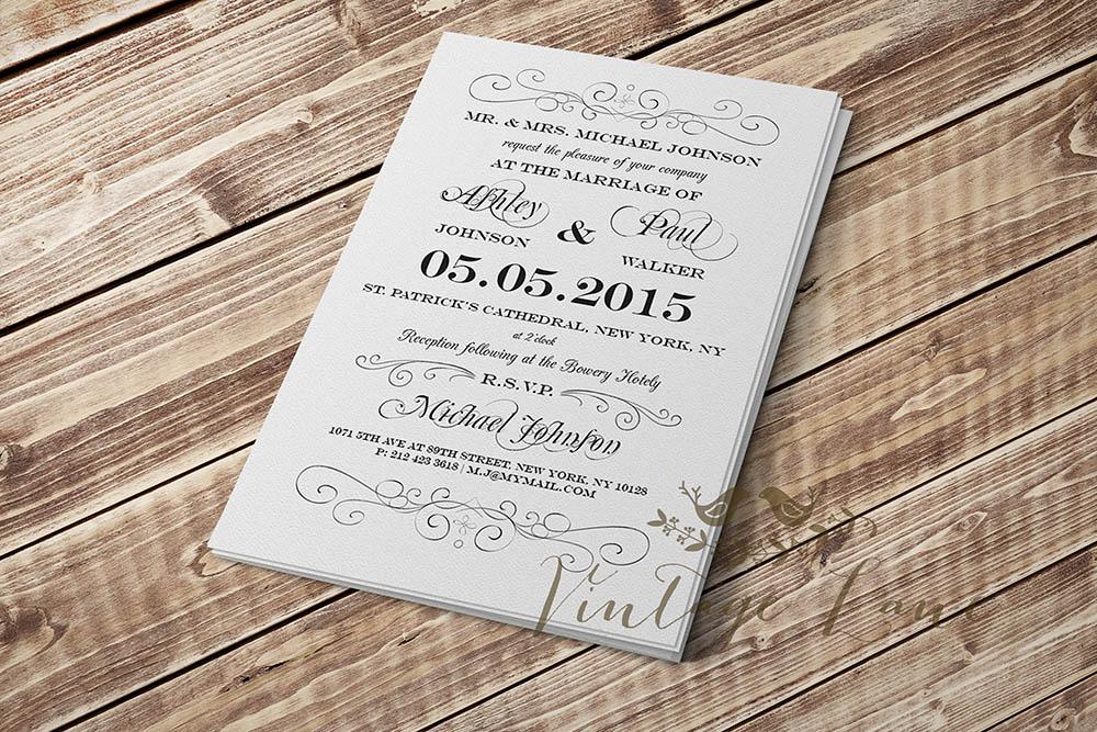 Plain Wedding Invitations ~ Yaseen for .