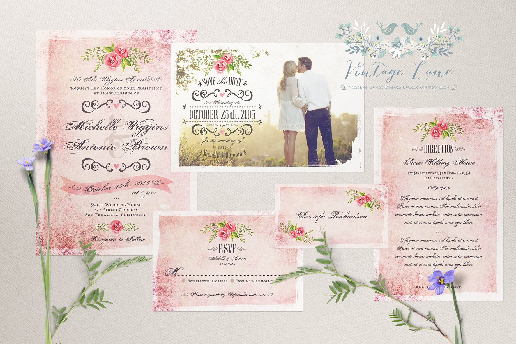 wedding invitations vintage wedding invitations northern ireland - Vintage Style Wedding Invitations