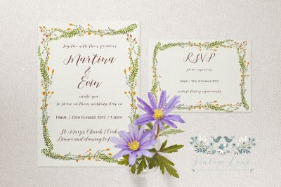 wildflower wedding invitations personalised stationery watercolour style wedding stationery cork ireland