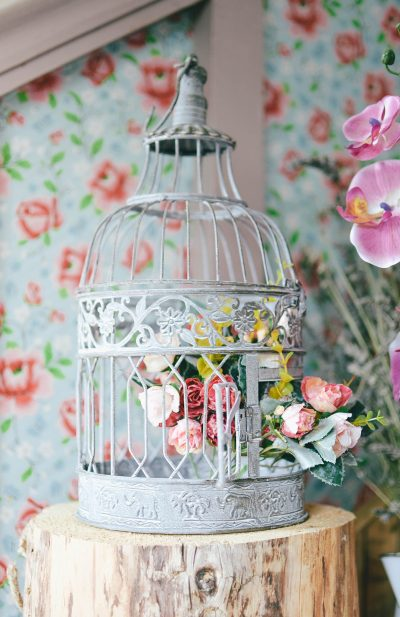 Vintage Birdcage Wedding Centrepieces for rent Cork Vintagelane Studio Cork