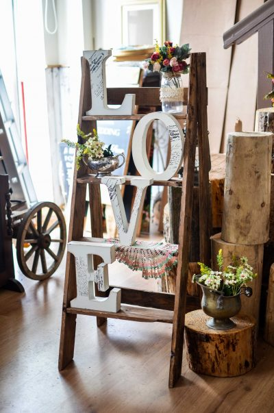 Vintage Ladder with Love letters for rent Cork Love Ladder Vintage Lane cork