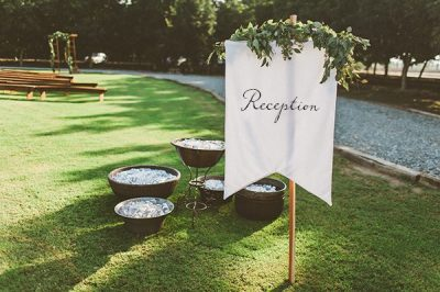 Reception Fabric Sign Personalised Wedding Sign Printed Cotton Sign