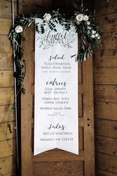Textile Wedding Menu Sign Printed Wedding Menu Sign Fabric Menu Sign Cork Ireland
