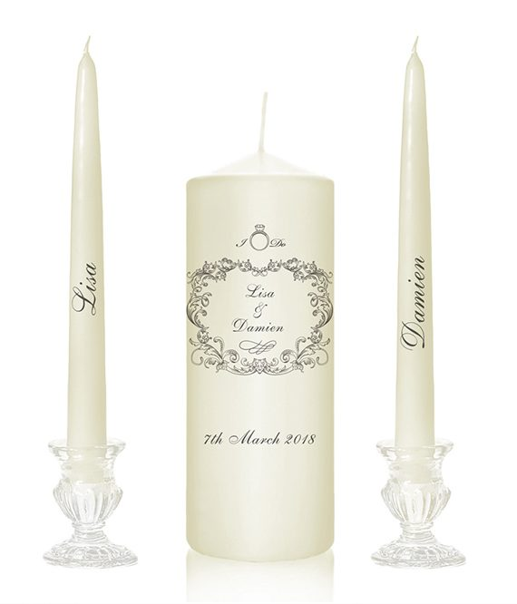 vintage style wedding candles vintage motif unity candles old style church candles produced in cork candles online