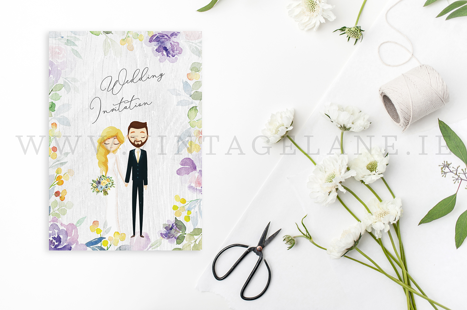 Personalised characters wedding invitations cartoon design wedding invitations character bride and groom invitations cork ireland