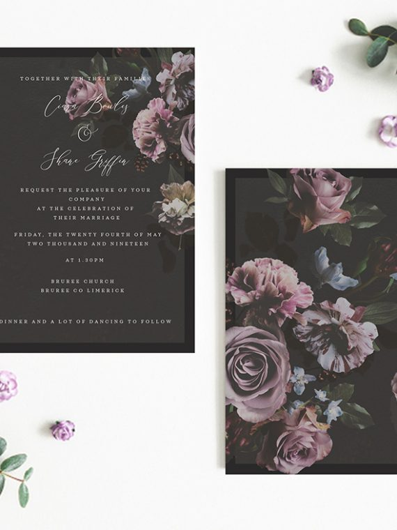 black floral wedding invitations pink roses on black black wedding classy wedding invitations floral wedding invitations floral print vintage lane