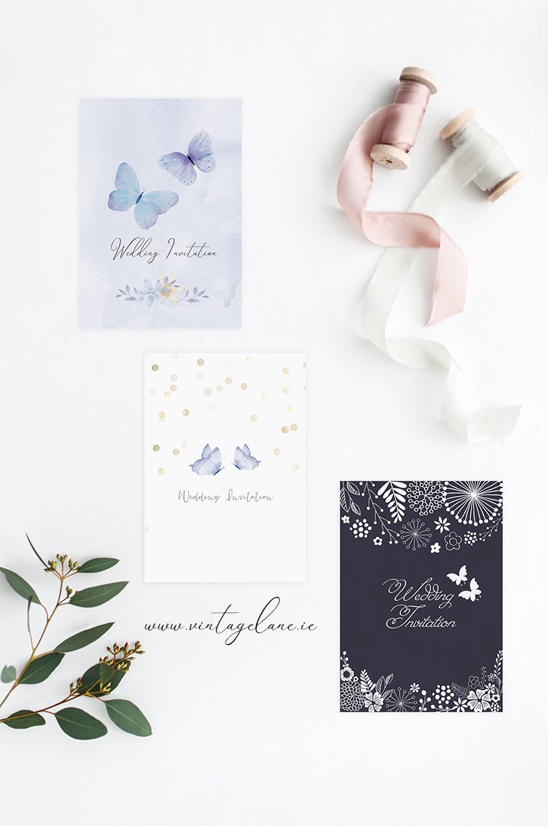 butterfly theme wedding invitations