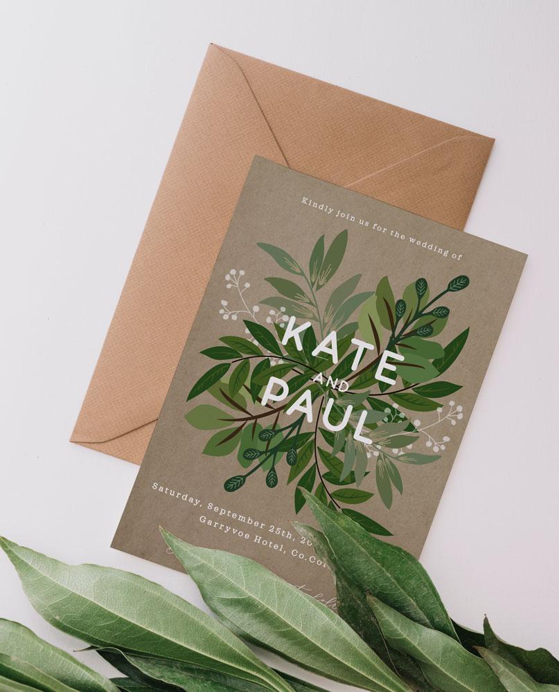 greenery-wedding-invitations-greenery-wedding-stationery-cork-ireland-vintage-lane-green-and-brown-wedding-invitations