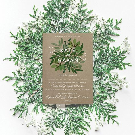kraft eco style wedding invitations green natural wedding invitations ireland cork dublin2