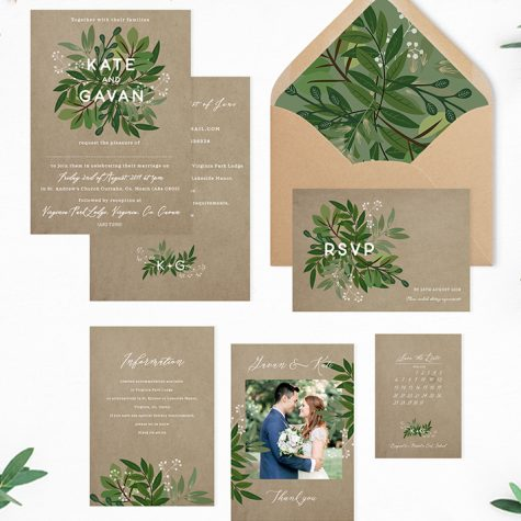 kraft eco style wedding invitations green natural wedding invitations order full set of stationery online ireland cork dublin