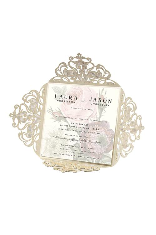lasercut opening wedding invitations cork lasercut wedding invitations ireland